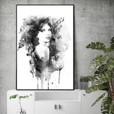 Wall poster portrait <b>home decor</b> canvas painting <b>print</b> figure Wall Art ...