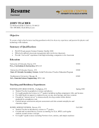 resume example teacher transitional skills teaching skills resume