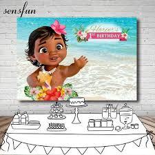 Sensfun Moana Flower Tropical Backdrop For Kids Sea <b>Beach</b> ...