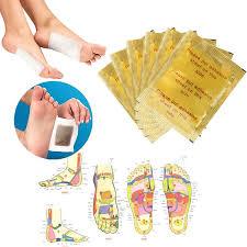 2 Pcs=<b>1Pair</b> Herbal Detox GOLD Foot Pads Patches Feet Care ...