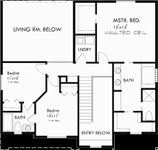 Bedroom House Plans  Wide House Plans  Narrow Lot House PlanUpper Floor Plan for wd bedroom house plans  wide house plans  narrow