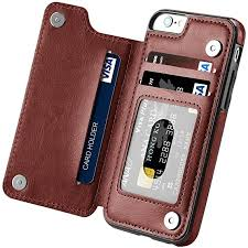 FastSun Magnetic Leather Wallet Case Card Slot ... - Amazon.com