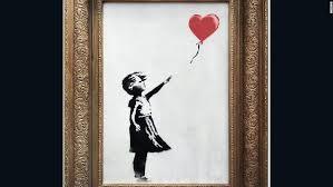 Banksy's 'Girl with Balloon' renamed '<b>Love is in the</b> Bin' - CNN Style