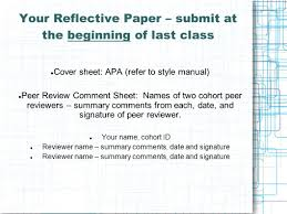 assignments assignment 1 topical assignments and presentations 30 your reflective paper submit at the beginning of last class cover sheet apa