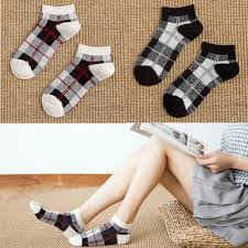 Miya Mona <b>1Pair British style Plaid</b> Socks Women Short Scoks Ankle ...