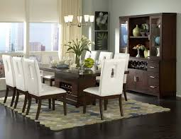 modern dining table teak classics: dining room dark wood dining table modern white leather dining chair design circle patterned rug table