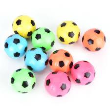 <b>10Pcs Bouncing Football Soccer Ball</b> Rubber Elastic Jumping Kid ...