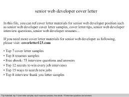senior web developer cover lettersenior web developer cover letter in this file  you can ref cover letter materials for