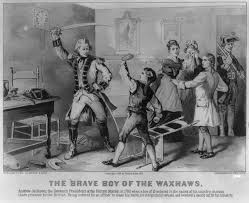 the new jacksonian blog  jacksonian nationalism and american    thirteen year old andrew jackson defies a british officer