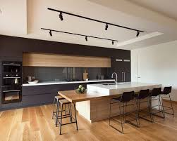 interior cool american oak with clear coat finish also modern kitchen interior plus black track black track lighting