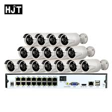 HJT <b>H</b>.265 16CH <b>NVR POE</b> KIT 5MP <b>IP Camera</b> Outdoor waterproof ...