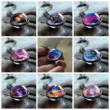 <b>2019</b> New Nebula <b>Galaxy</b> Double Sided <b>Pendant Necklace</b> ...