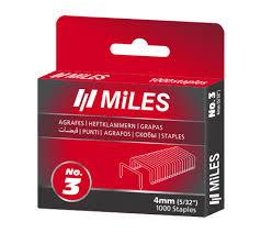 Набор <b>скоб</b> для степлера <b>Miles</b>, <b>тип 53</b>, 12 мм (1000 штук ...