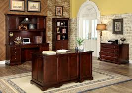 desmont cm dk6207 5 pieces transitional cherry finish home office set home office furniture cherry finished