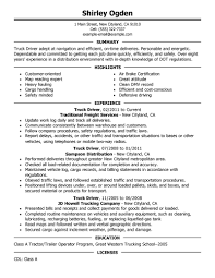 transportation resume examples transportation sample resumes truck driver resume example