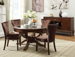 Contemporary Round Dining Table For 6 Gorgeus Dining Table Black Round Inspired On