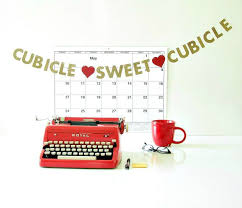 Image result for cubicle desk images