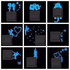 <b>Blue</b>-<b>light Luminous Switch Sticker</b> Home Decor Cartoon Glowing ...