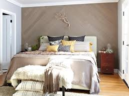 bedroom paneling ideas: opulent bedroom using cute wooden wall paneling and spacious bed