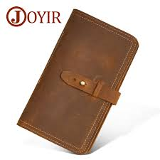 <b>JOYIR Genuine Leather</b> Men <b>Wallet</b> Credit <b>Card</b> Holder Passport ...