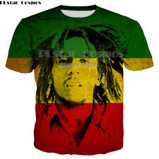 Newest summer o neck women/men T shirts Reggae <b>Bob Marley</b> 3D ...