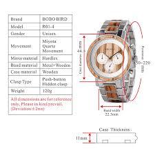 BOBO BIRD luxury Stainless Steel <b>Wood Watches Men</b> ...