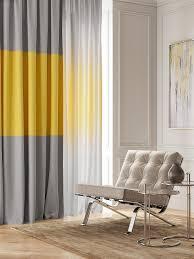 <b>Комплект штор Томдом</b> Сайфина, серый, желтый, белый ...