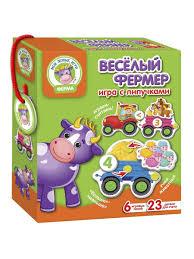 <b>Игра</b> настольная с липучками Веселый фермер <b>Vladi Toys</b> ...