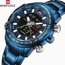 NAVIFORCE Luxury <b>Mens</b> Quartz Analog <b>Watch Fashion Sport</b> ...