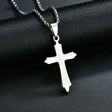 2019 <b>Eleple Stainless Steel</b> Cross Pendant Religious Necklaces For ...