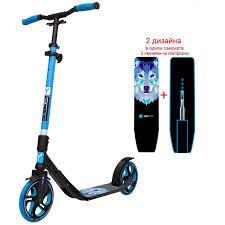 Купить <b>самокат Y-SCOO RT 215</b> ONEONE blue (2 дизайна в 1 ...