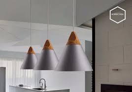 Nordic combined bar real <b>wood Pendant</b> Lights multicolor <b>Aluminum</b> ...