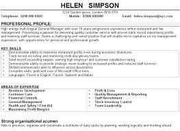 sample cv for restaurant managerssample cv for restaurant managers