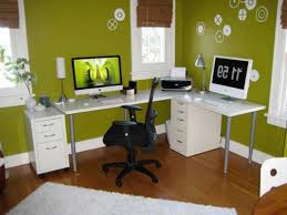 color green wall with amazing small work office decorating ideas