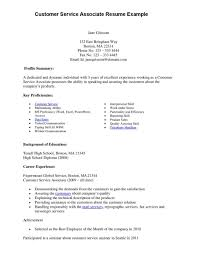 resume examples customer service resume objectives examples for skills