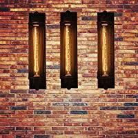 2PCS <b>Vintage</b> Industrial <b>Black</b> Metal <b>Wall</b> Lamp Sconce Light Fixture ...