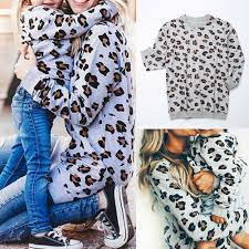 Calsunbaby - <b>Family Matching</b> Clothes <b>Mother Daughter</b> Leopard ...