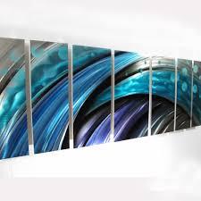 typhoon large modern abstract metal wall art sculpture blue  dv