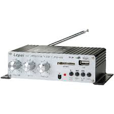 Lepai <b>LP</b>-<b>A68</b>, 2x15w Mini Amp, Remote, USB FM. Solen ...