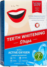 <b>Отбеливающие полоски</b> для зубов <b>Global</b> White <b>Global</b> White ...