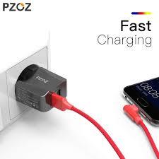 Online Shop PZOZ Usb Charger <b>Travel EU</b> Plug 2a <b>Fast Charging</b> ...