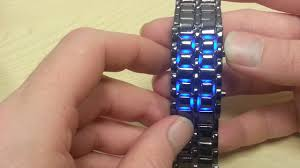 Mens Steel <b>Bracelet LED Watch</b> - Review - YouTube