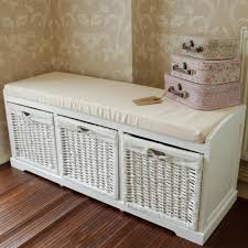 size bathroom wicker storage: full size of bathroom endearing white wicker storage bench white painted finish made from durable wood