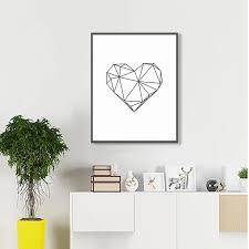 Simple Black And White Words Of <b>Love Wall Art Minimalist</b> Love ...