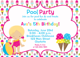 birthday party invitation clipart clipartfest pool party clipart