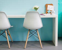 glamorous ikea malm technique new york midcentury home office decorators with aqua blue walls chairs chic clean colorful wall color console desk eames eames chic ikea home office