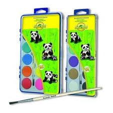 Краски акварель <b>School Point</b> 7407018-02 Панда, 18 цветов, с ...