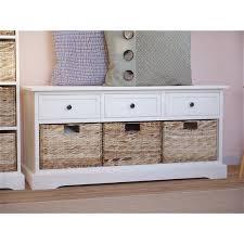 Santa Cruz <b>Solid</b> Wood Drawer <b>Storage Bench</b> & Reviews | Joss ...