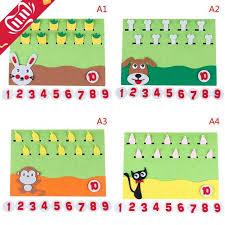 <b>1Pc Felt Cartoon</b> Card Early Teaching Kids by Hands Study Math ...