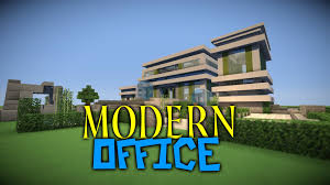 minecraft modern office building timelapse youtube building an office